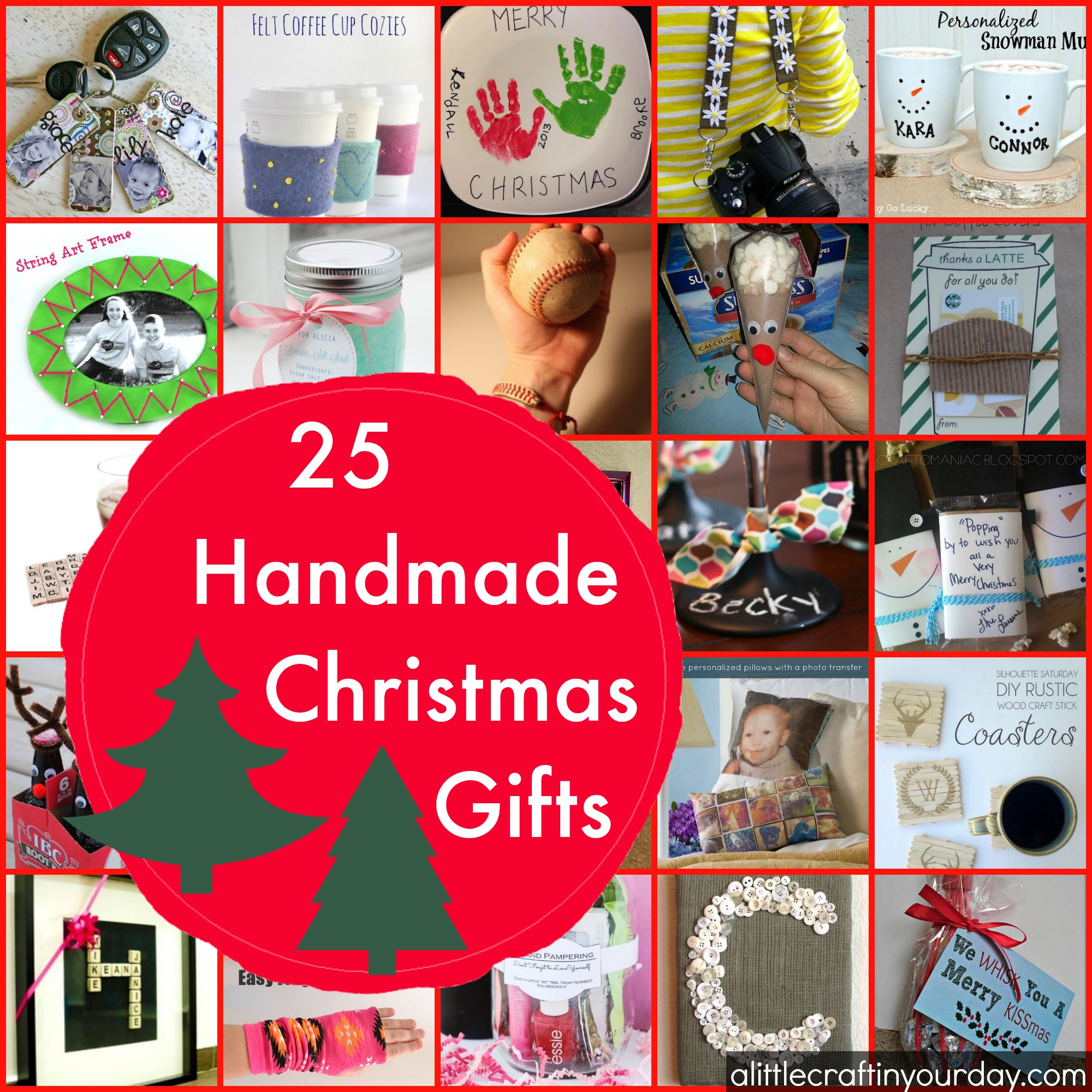 25 Handmade Christmas Gifts - A Little Craft In Your Day