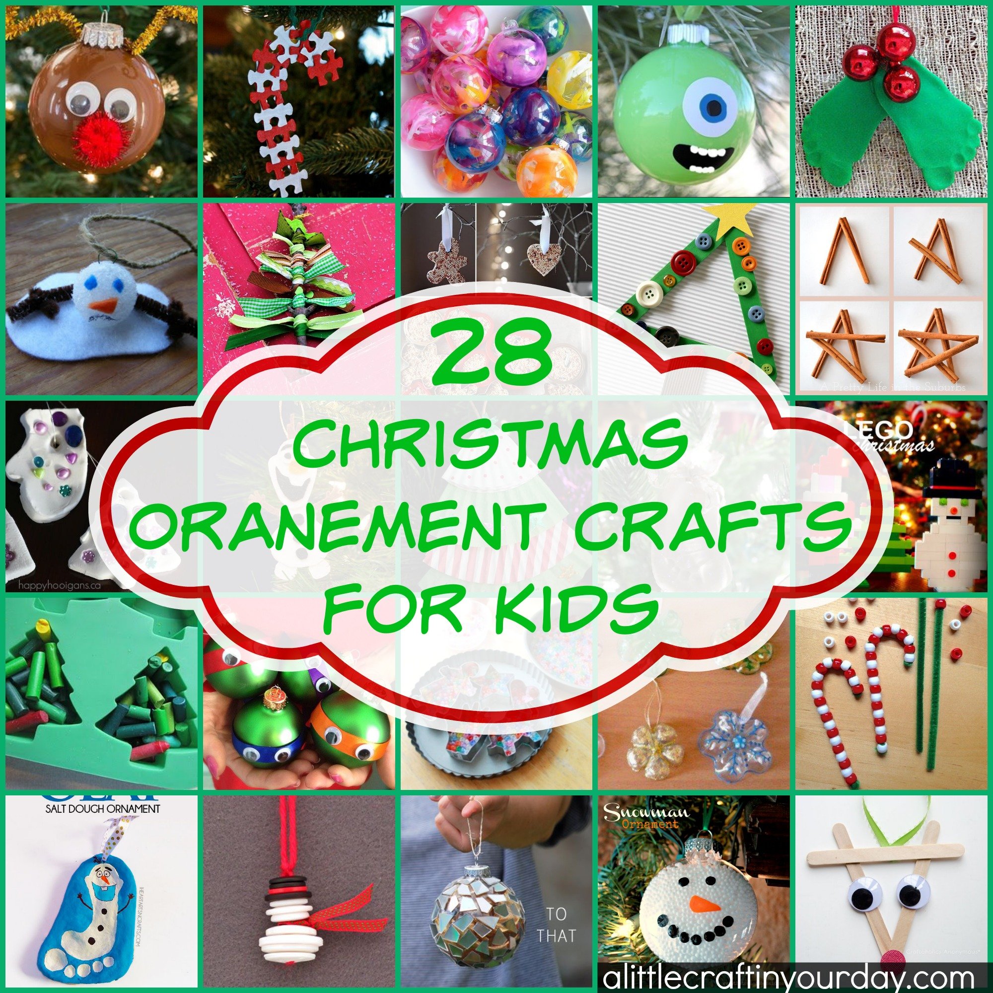 28 Christmas Ornament Crafts For Kids - A Little Craft In ...
