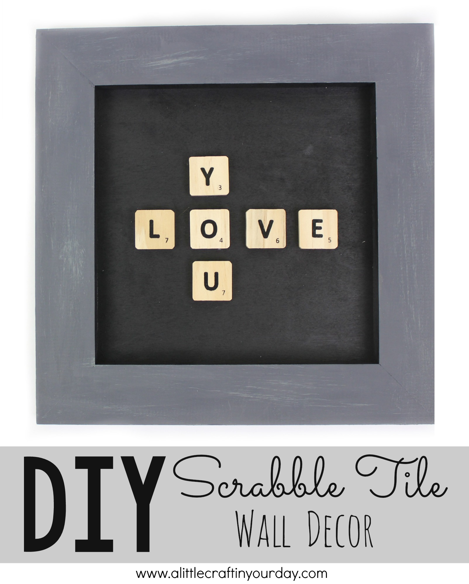 Fun Diy Home Decor Ideas Diy Scrabble Tile Wall Decor A Little Craft In Your Day