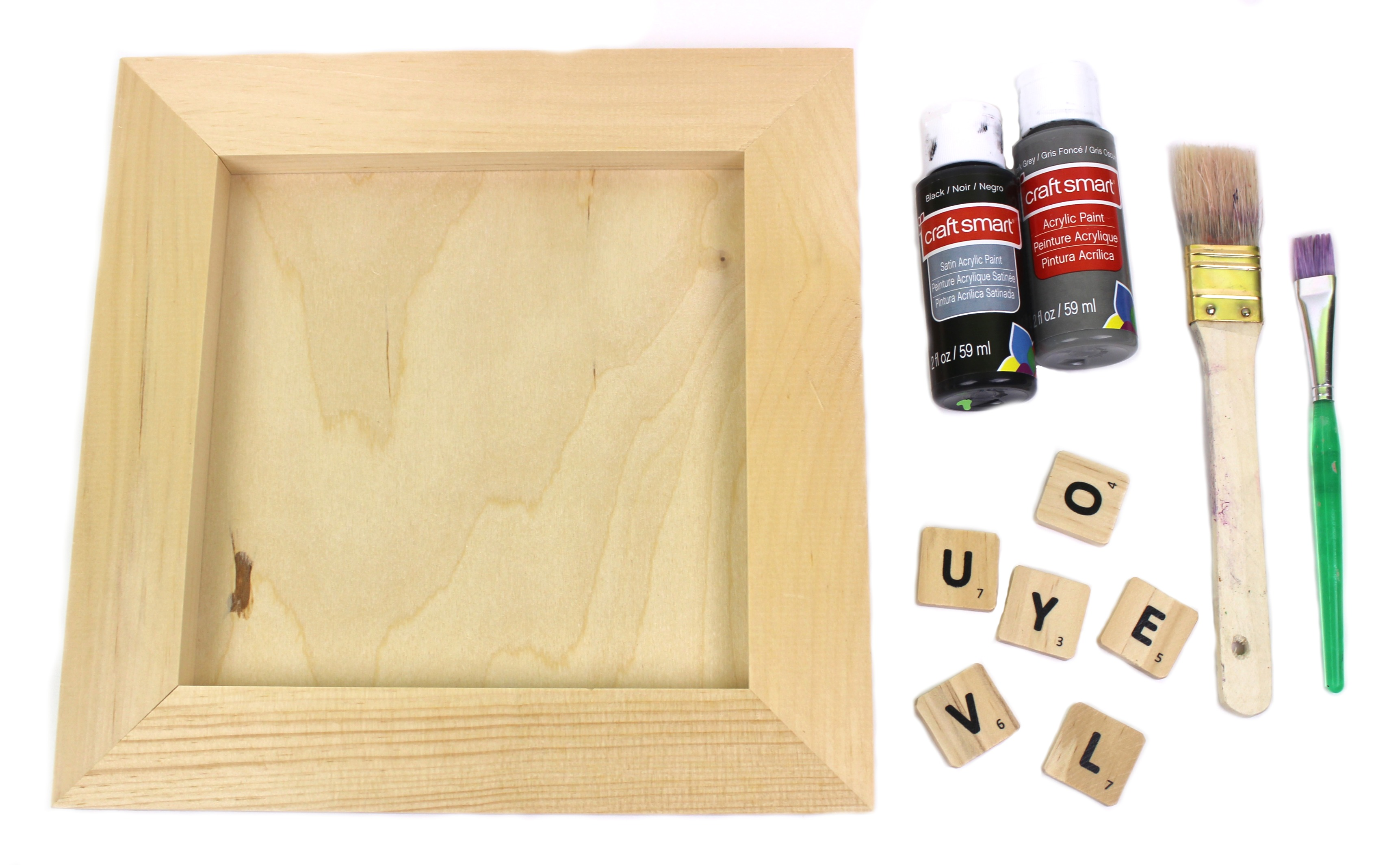 DIY Scrabble Tile Wall Decor - A Little Craft In Your Day