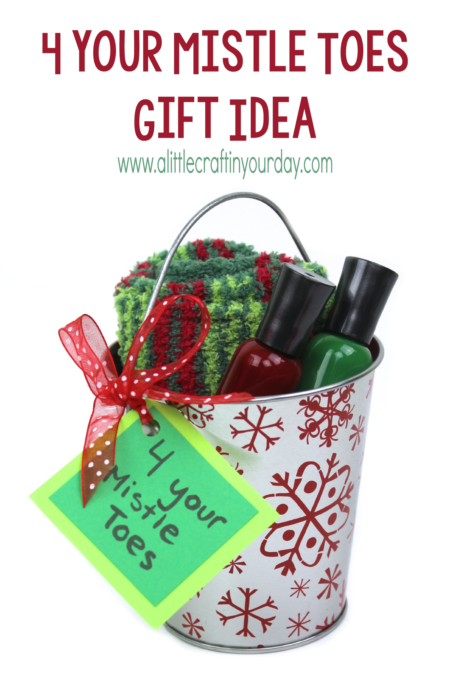 For Your Mistle Toes Gift Idea A Little Craft In Your Day