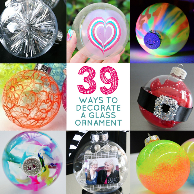 39 Ways to Decorate a Glass Ornament - A Little Craft In ...