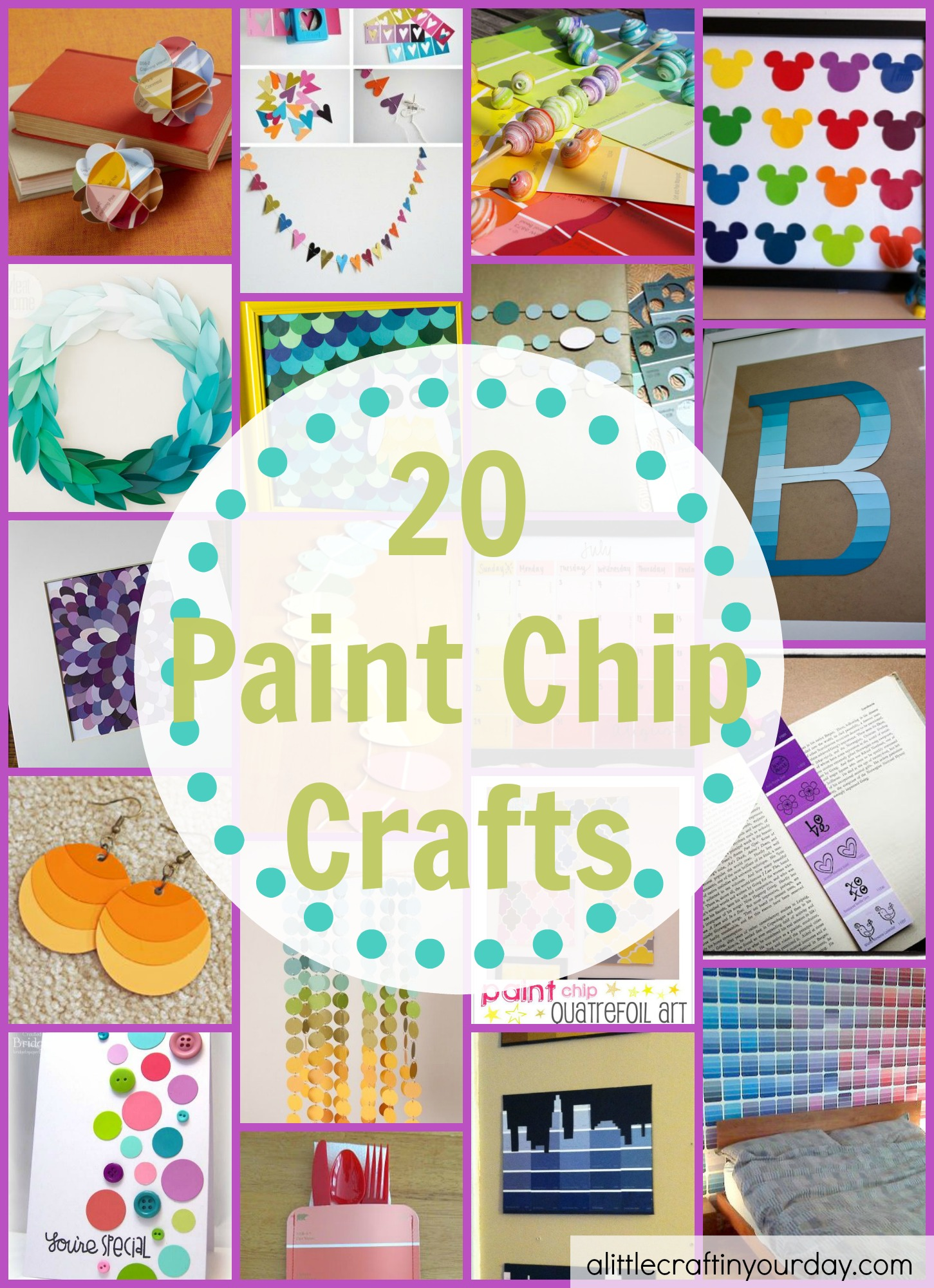 Craft Ideas For Paint Swatches