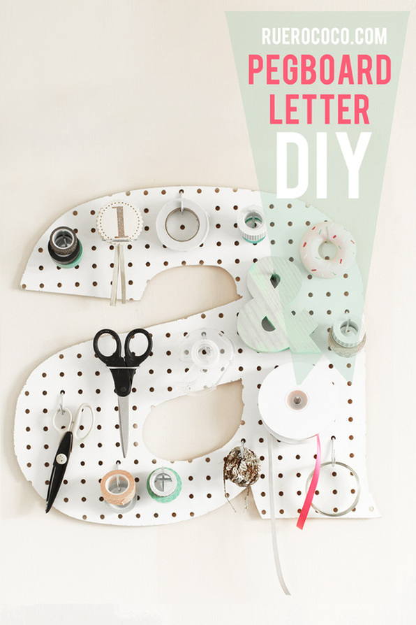 Pegboard letter diy a little craft in your day for Diy pegboard craft organizer