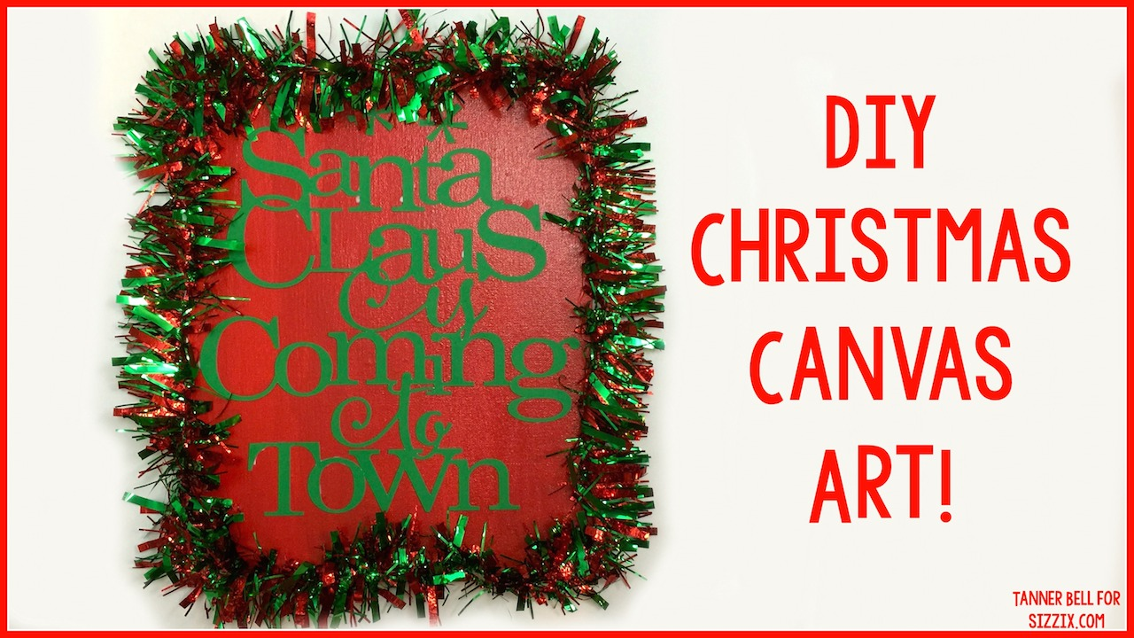 DIY Christmas Canvas Art - A Little Craft In Your DayA Little Craft In ...