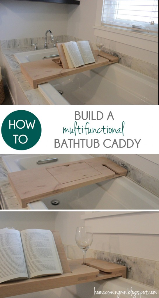 How to Build a Bathtub Caddy - A Little Craft In Your Day