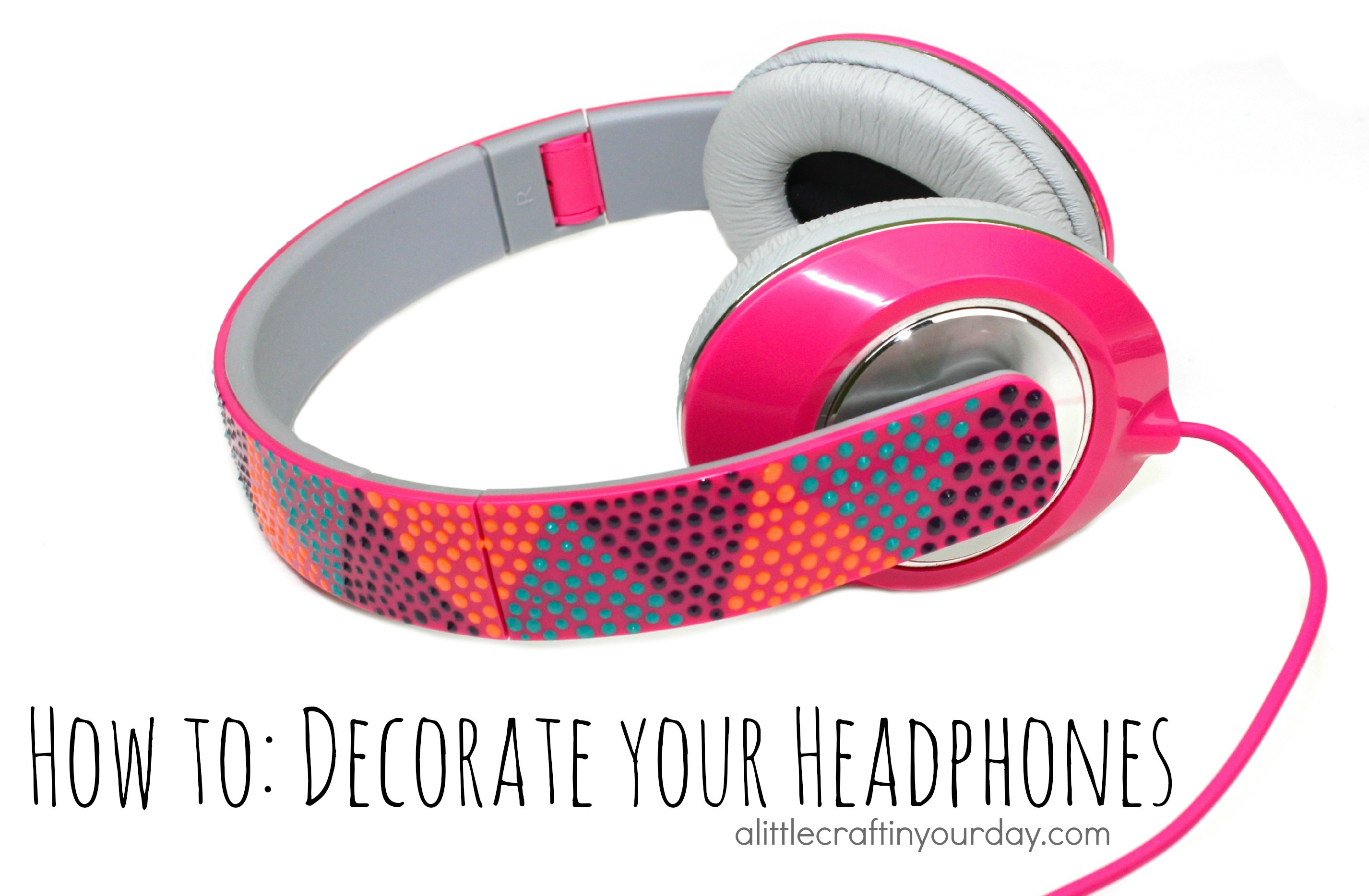 decorate your headphones a little craft in your day