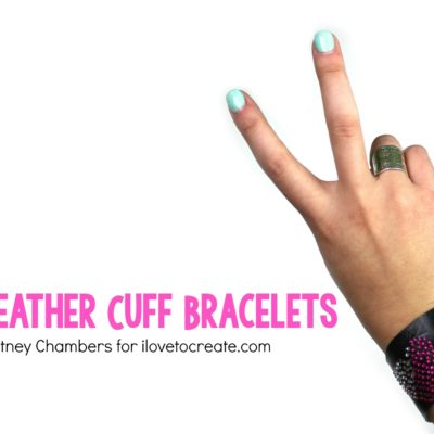 DIY Leather Cuff Bracelets thumbnail