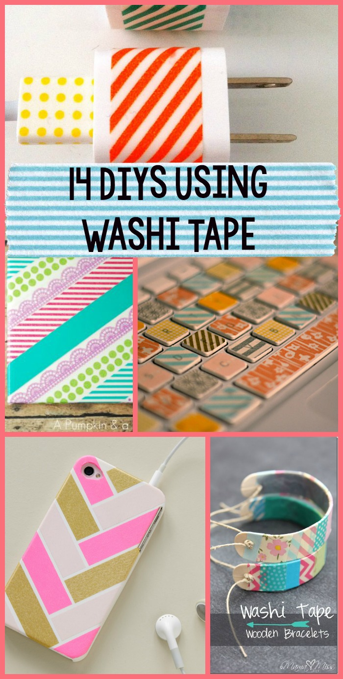 14 washi tape diy 39 s a little craft in your day for Crafts with washi tape