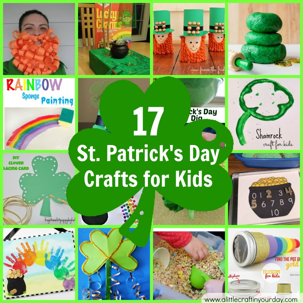 17 st patrick 39 s day crafts for kids a little craft in for Crafts for little kids