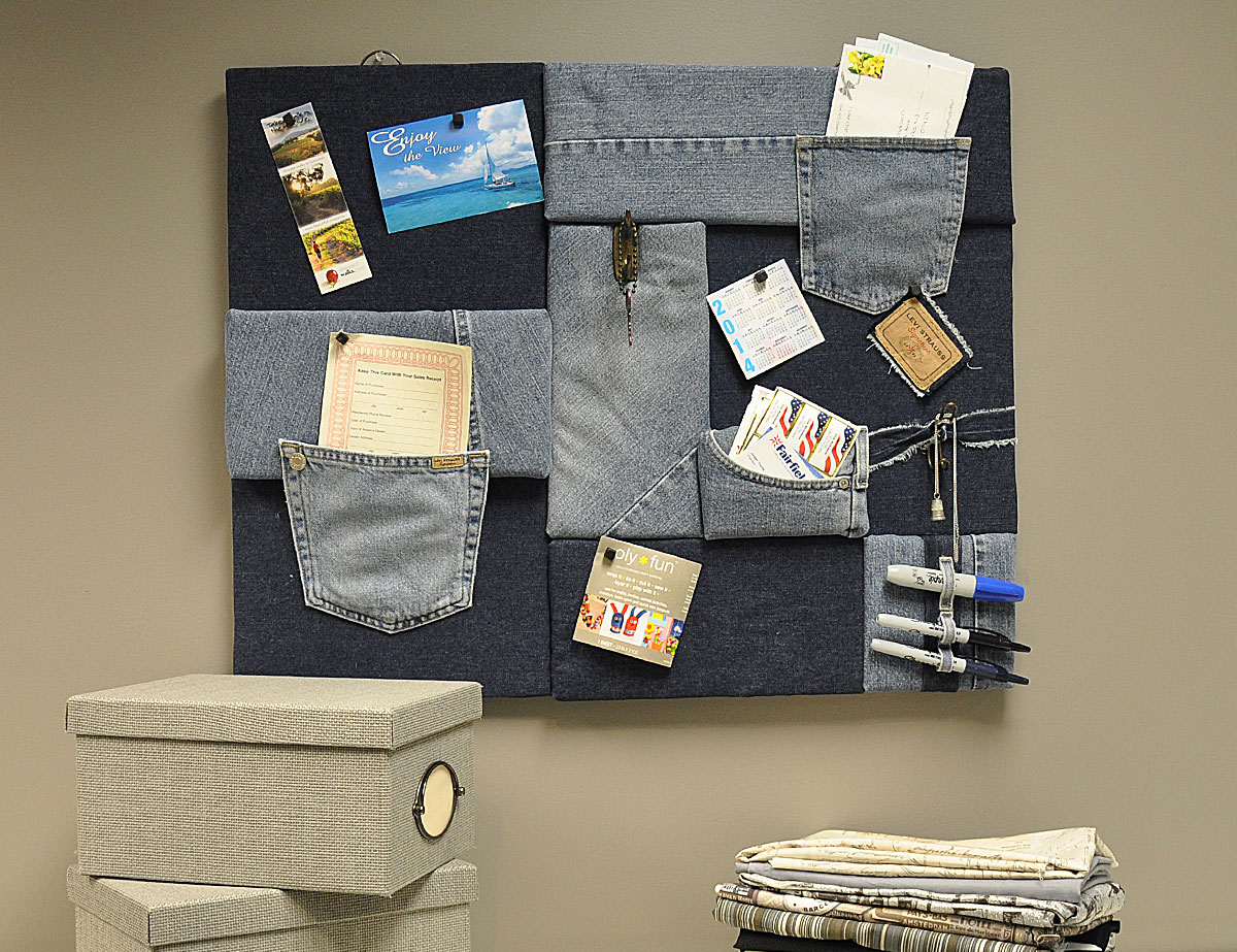 denim diy wall decor board a little craft in your day. Black Bedroom Furniture Sets. Home Design Ideas