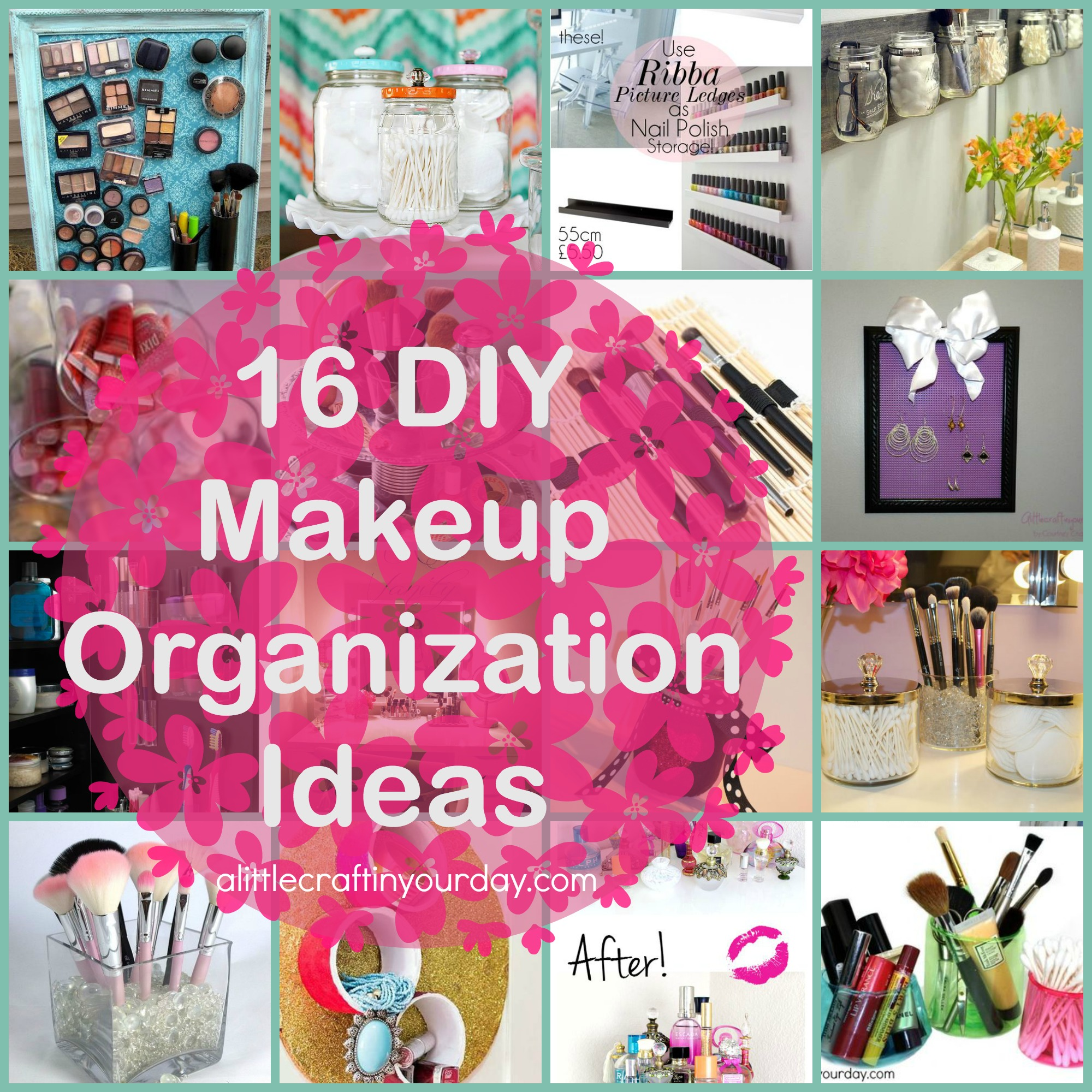 Diy Organization Ideas Part - 35: 3/31 | 16 DIY Makeup Organization Ideas. 16_DIY_Makeup_Organization_Ideas