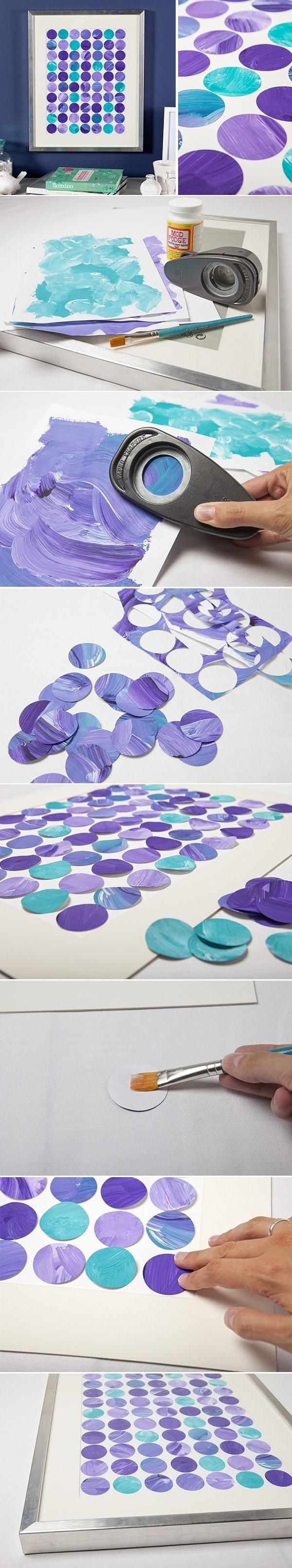Diy colorful wall art a little craft in your day for Diy colorful wall art