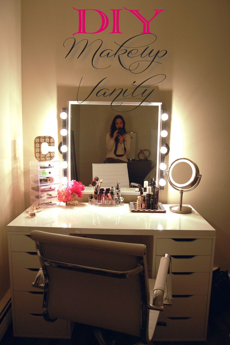 vanity makeup organizer ideas. DIY Makeup Vanity  9ab78d38ea864981325beaf26ad9762a 16 Organization Ideas A Little Craft In Your Day