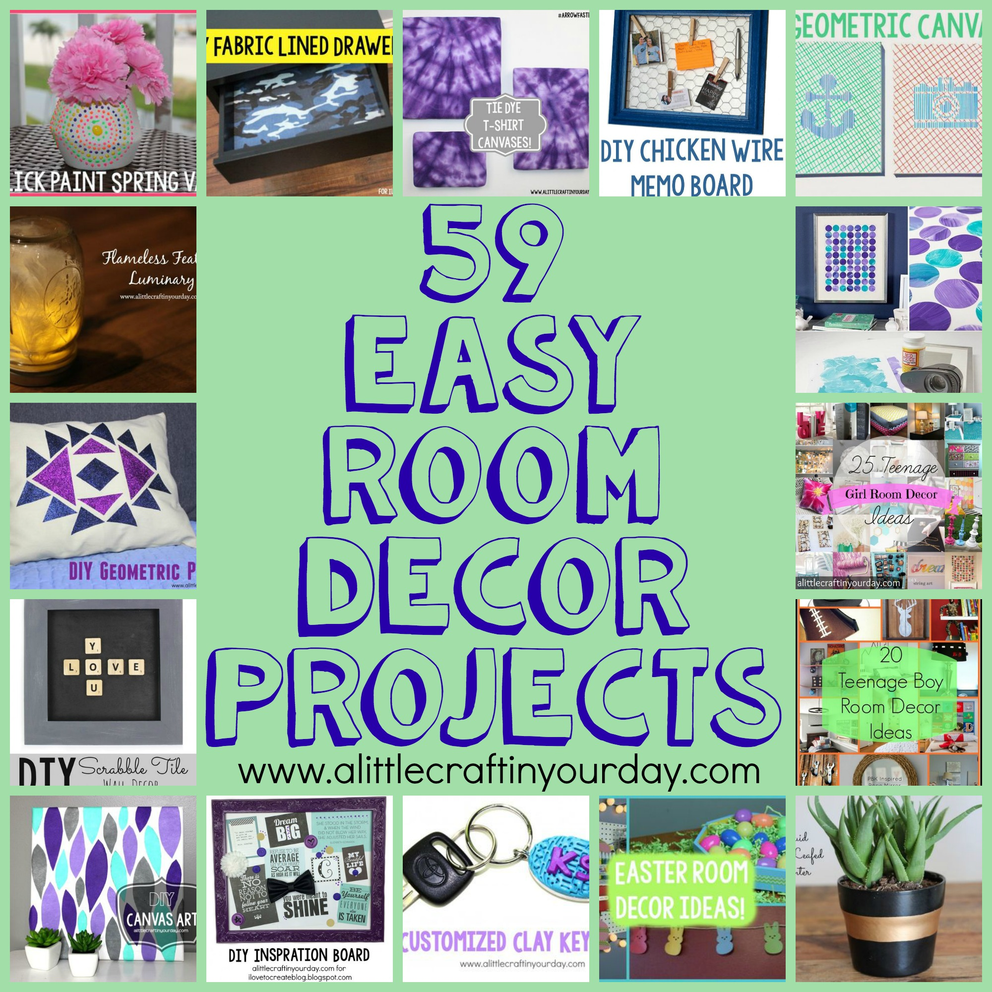 59 easy diy room decor projects a little craft in your day for Diy room decor projects