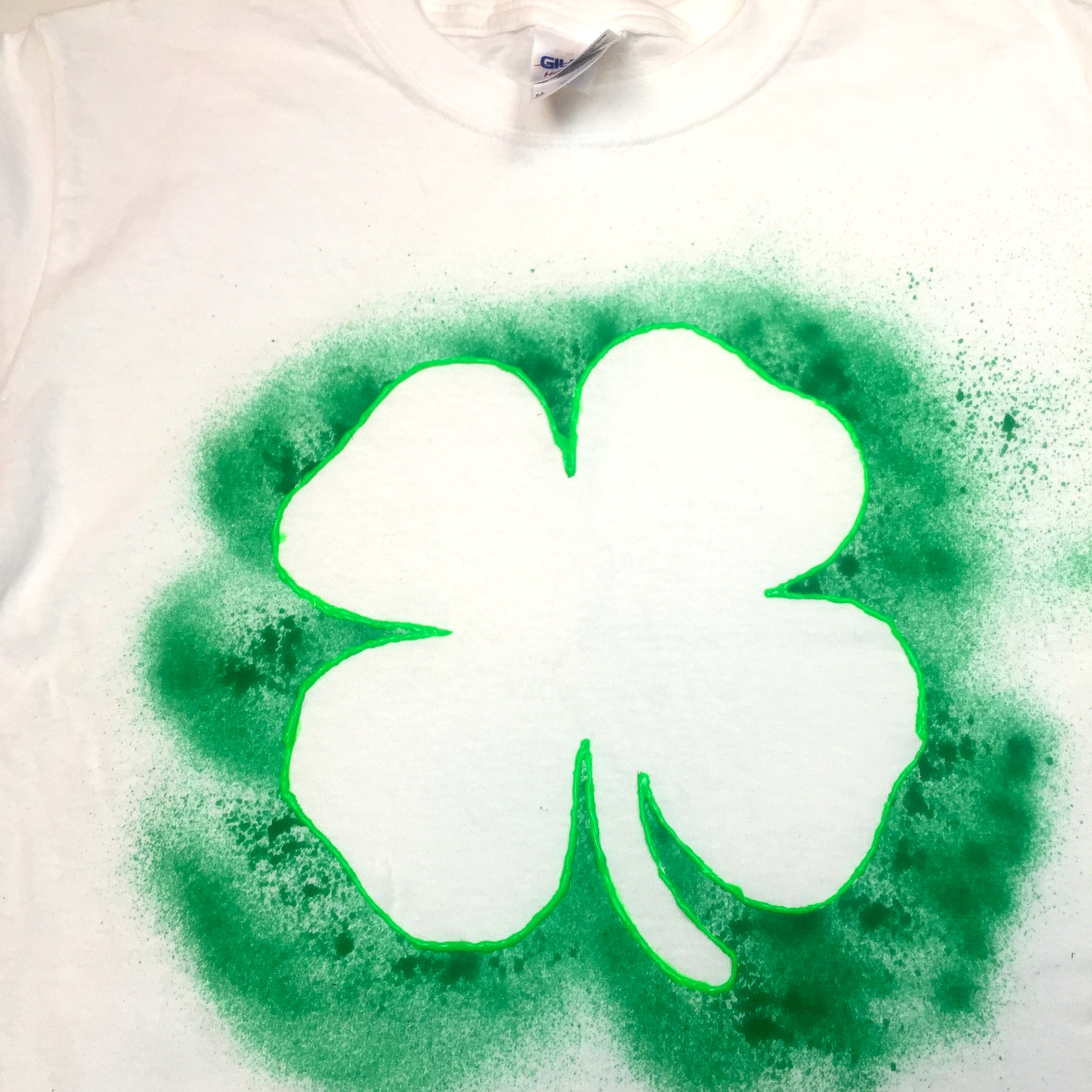 diy shamrock shirt a little craft in your day