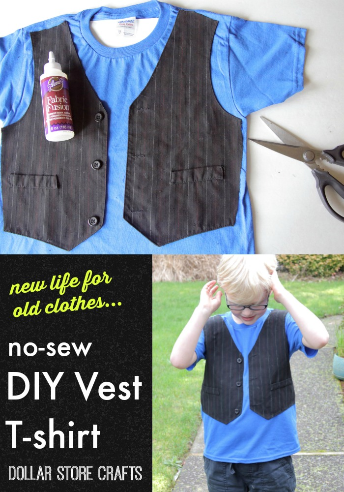 No sew vest t shirt a little craft in your day for Craft ideas for old t shirts