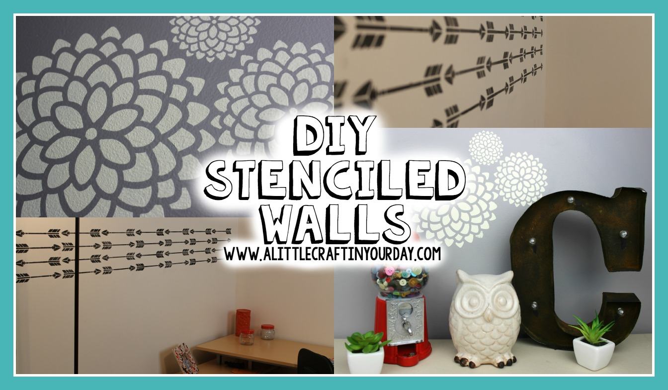 Diy Stenciled Walls A Little Craft In Your Day
