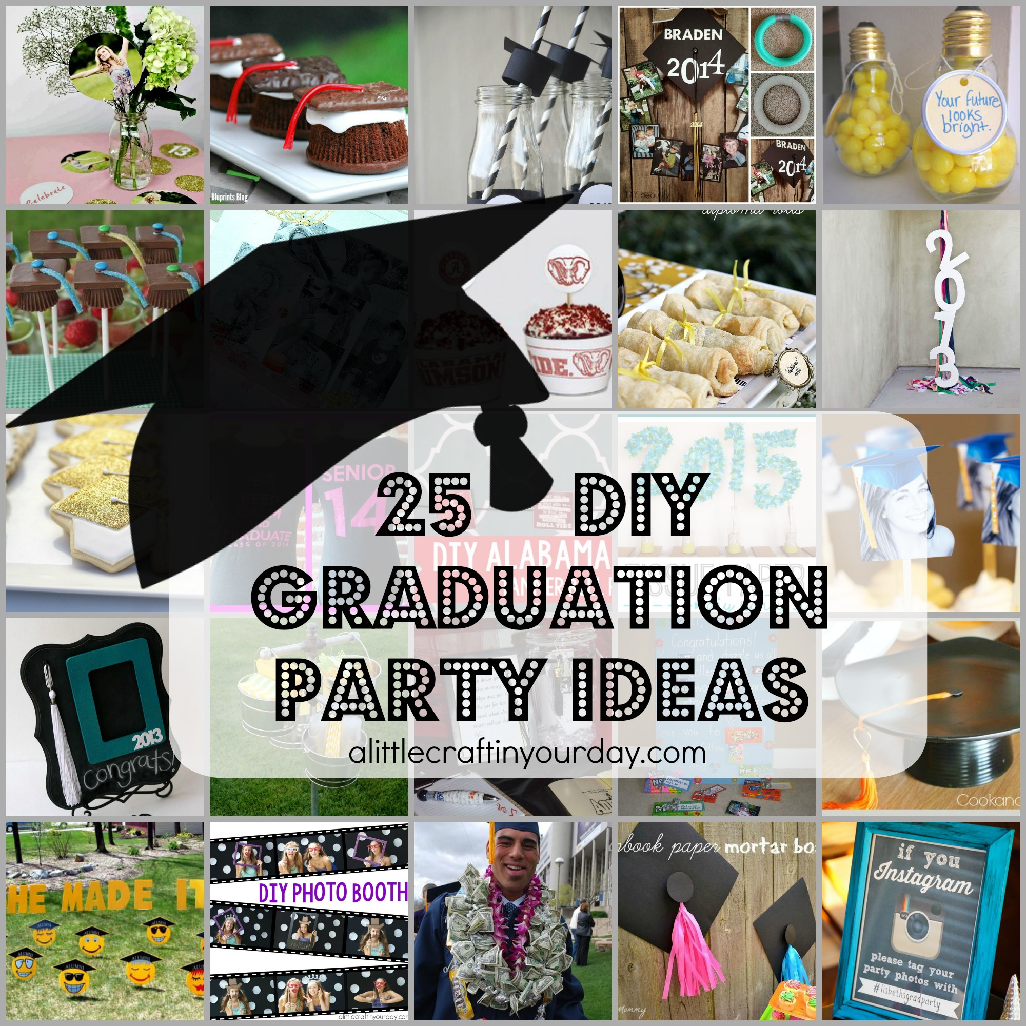 25 diy graduation party ideas a little craft in your day rh alittlecraftinyourday com centerpieces graduation party high school centerpieces graduation party high school