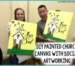 DIY-Painted-Church-Canvas-with-Social-Artworking