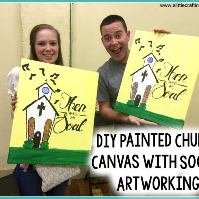 DIY Painted Church Canvas with Social Artworking thumbnail