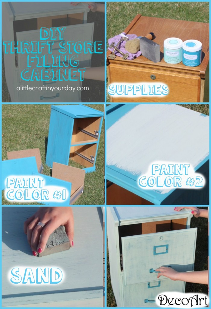 Diy thrift store filing cabinet teen room decor a for Room decor diy ideas