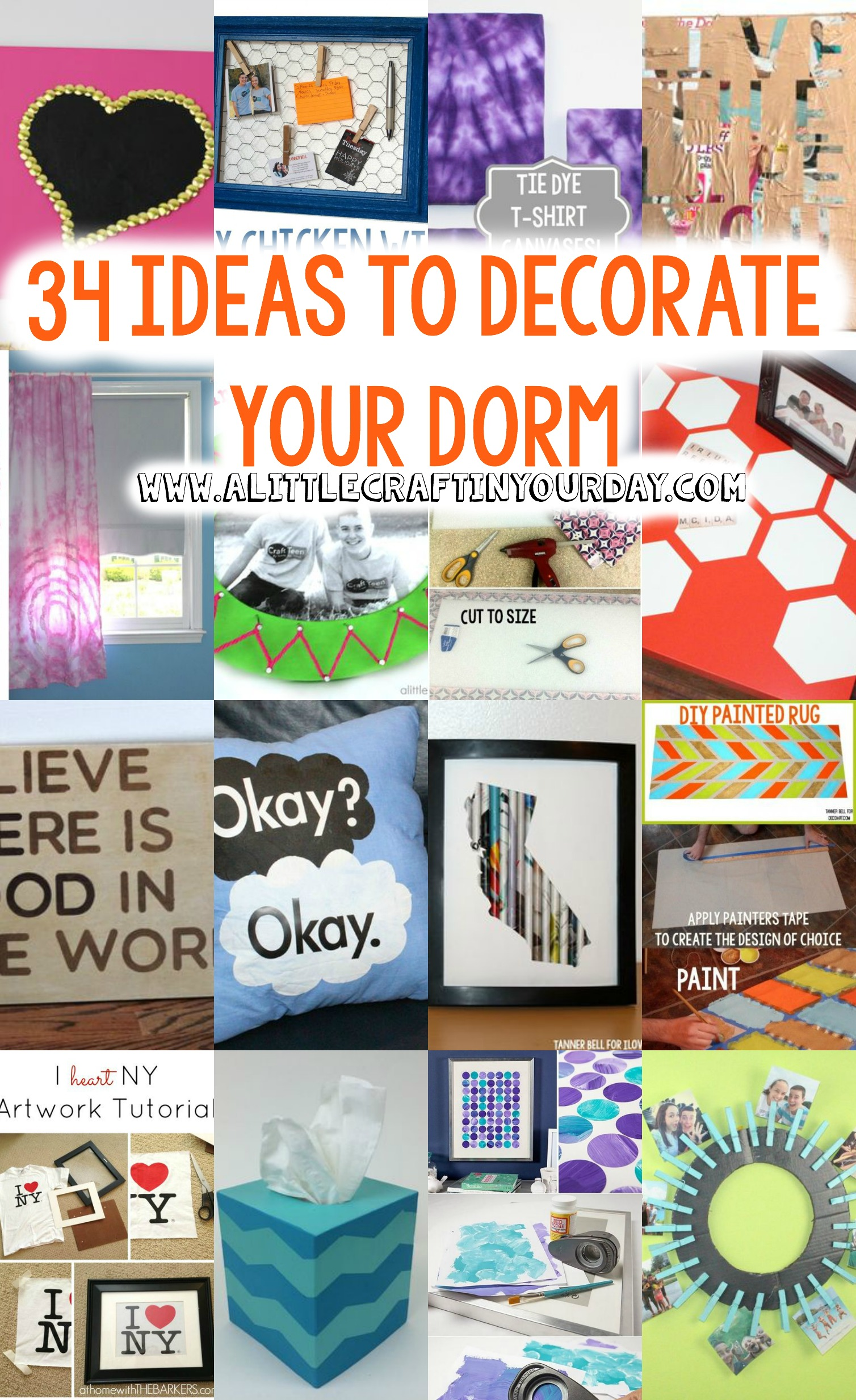 Dorm Decor ideas  34 ideas to decorate your Dorm  A  ~ 191949_Dorm Room Craft Ideas