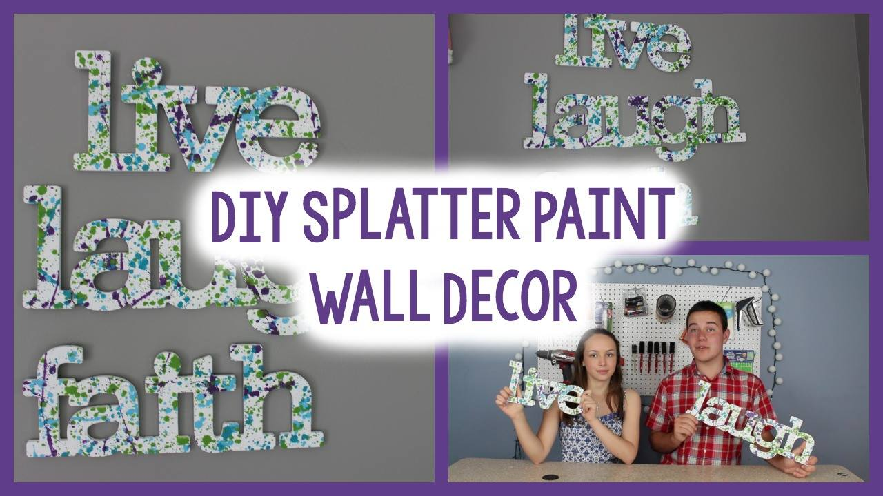 Diy splatter paint wall art a little craft in your day for Wall painting ideas tumblr