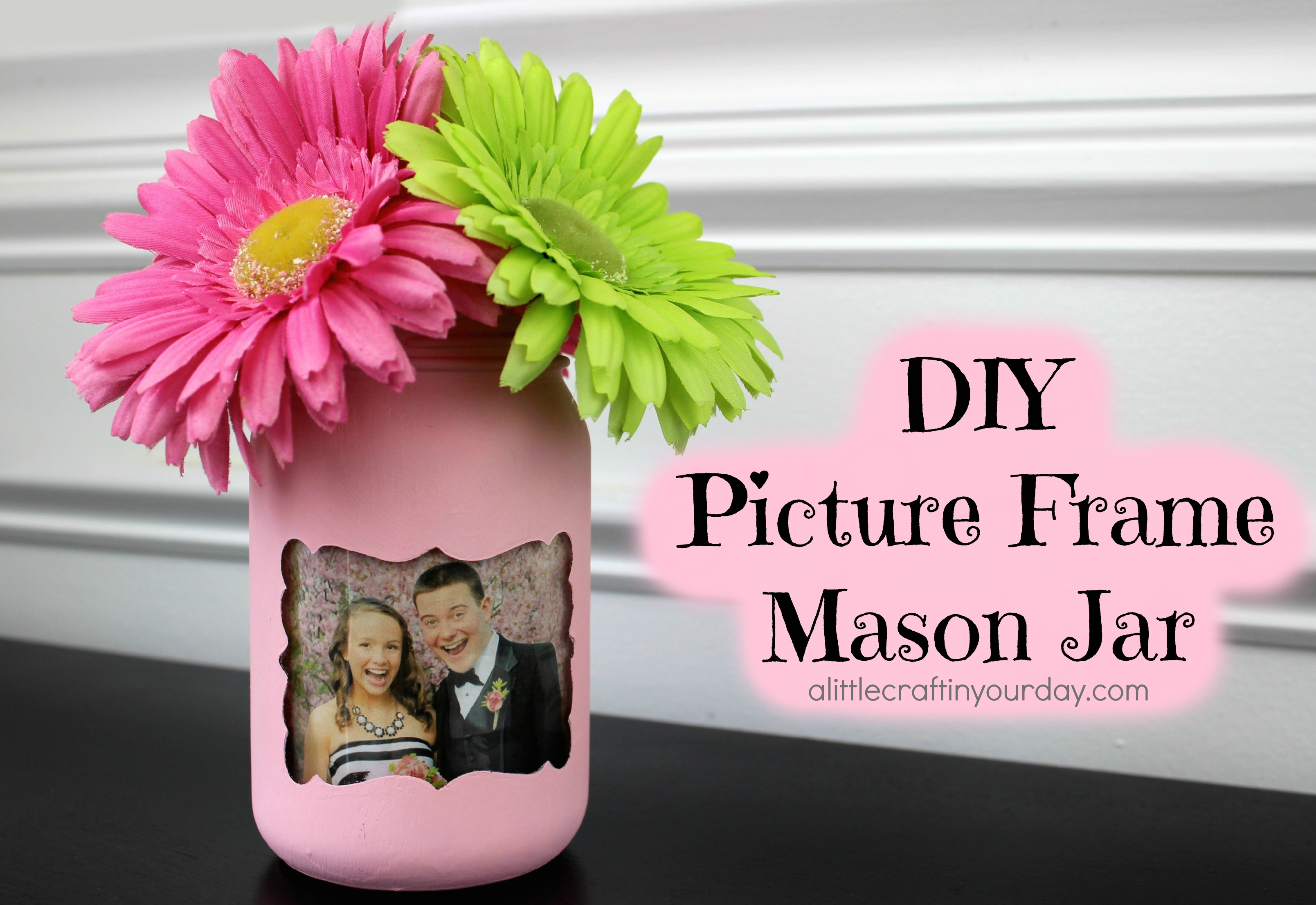 Diy picture frame mason jar a little craft in your day click here to check out these great mason jars perfect for this project jeuxipadfo Choice Image