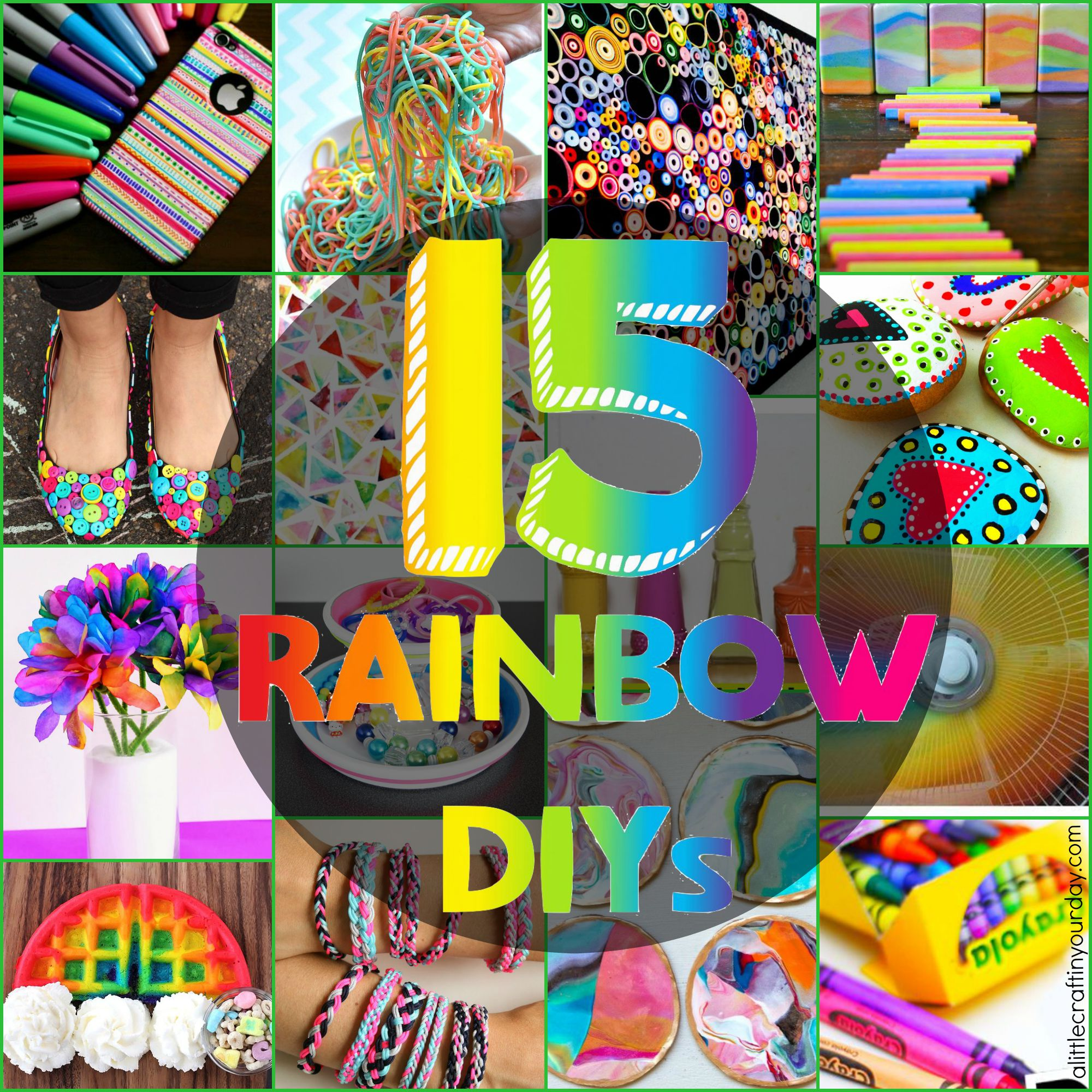 Diy Colorful Rooms: 15 Rainbow DIYs