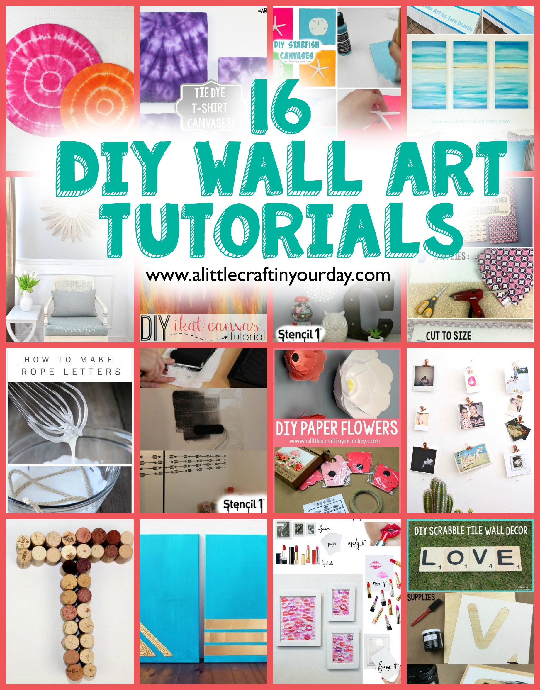 16 DIY Wall Art Tutorials