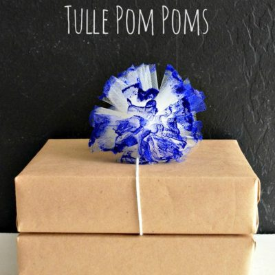 DecoArt Paint Dipped Tulle Pom Poms thumbnail