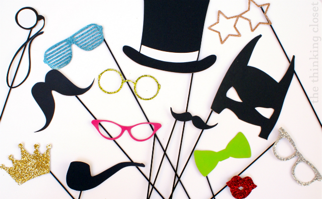 Diy Photo Booth Props A Little Craft In Your Day