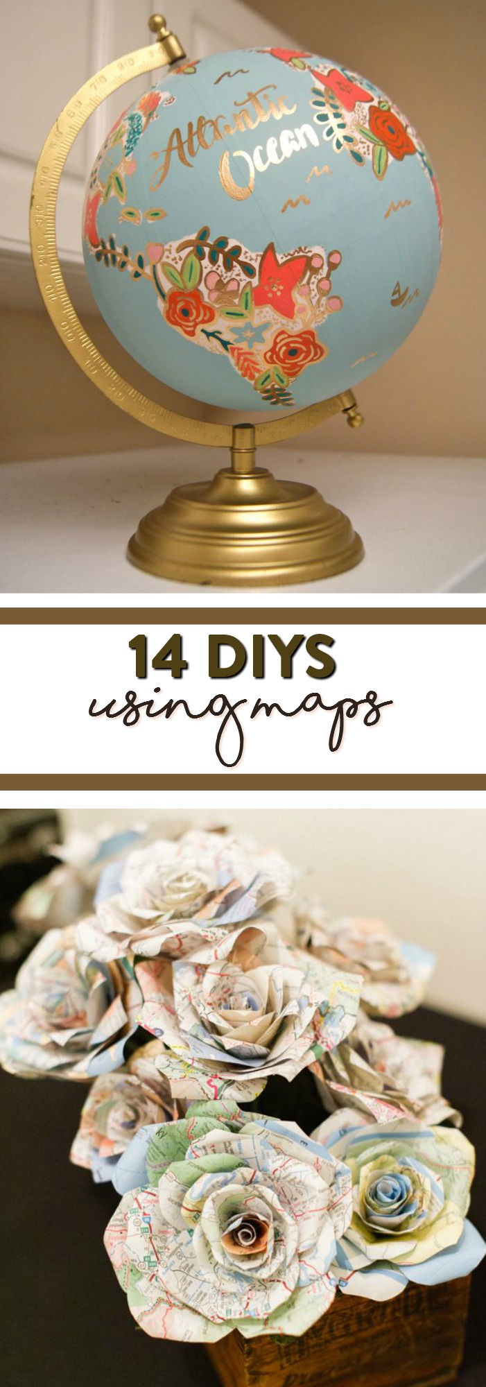 14 Diys Using Maps A Little Craft In Your Day