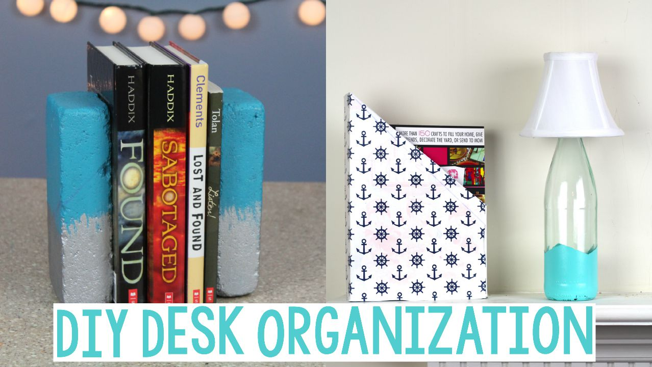 School Desk Organization DIY