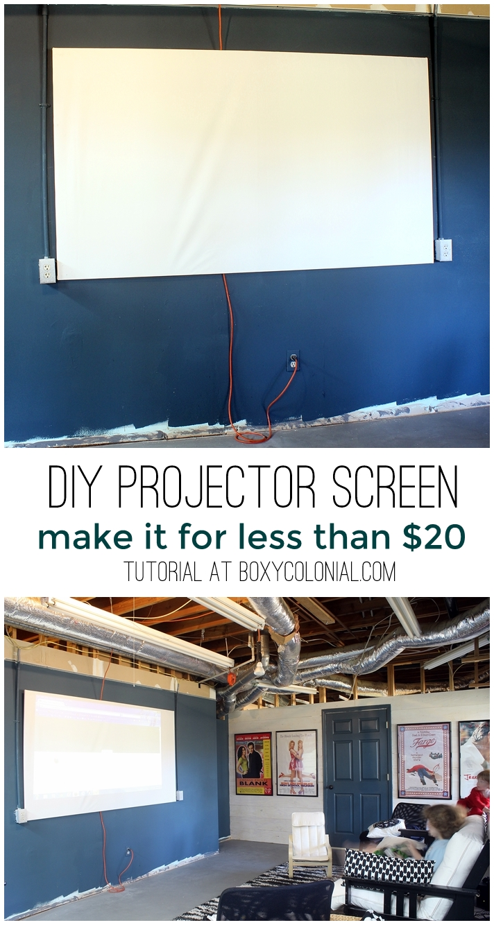 DIY Projector Screen for less than $20 - A Little Craft In ...