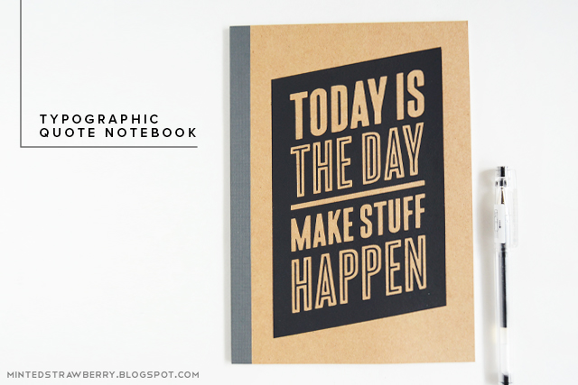 Typographic Book Cover Quote : Diy typographic quote notebook a little craft in your day