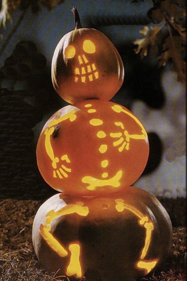 Awesome pumpkin carving ideas a little craft in your day for Skeleton pumpkin design