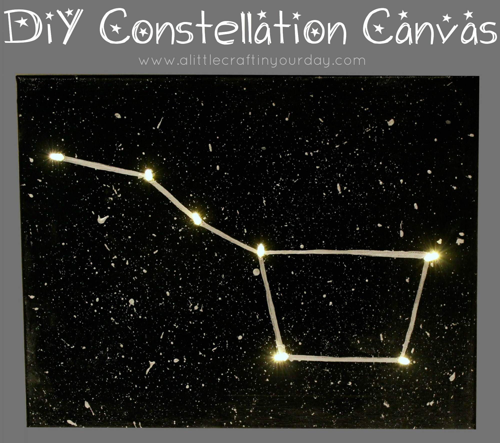 DIY Constellation Canvas - A Little Craft In Your Day