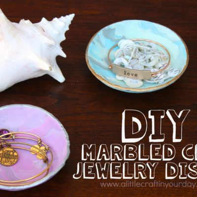 DIY Marble Clay Jewelry Dishes thumbnail