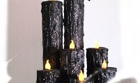HouseofDewberry DIY Paper Towel Roll Halloween Candles