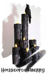 Diy Halloween Paper Towel Roll And Tealight Candles A Little Craft