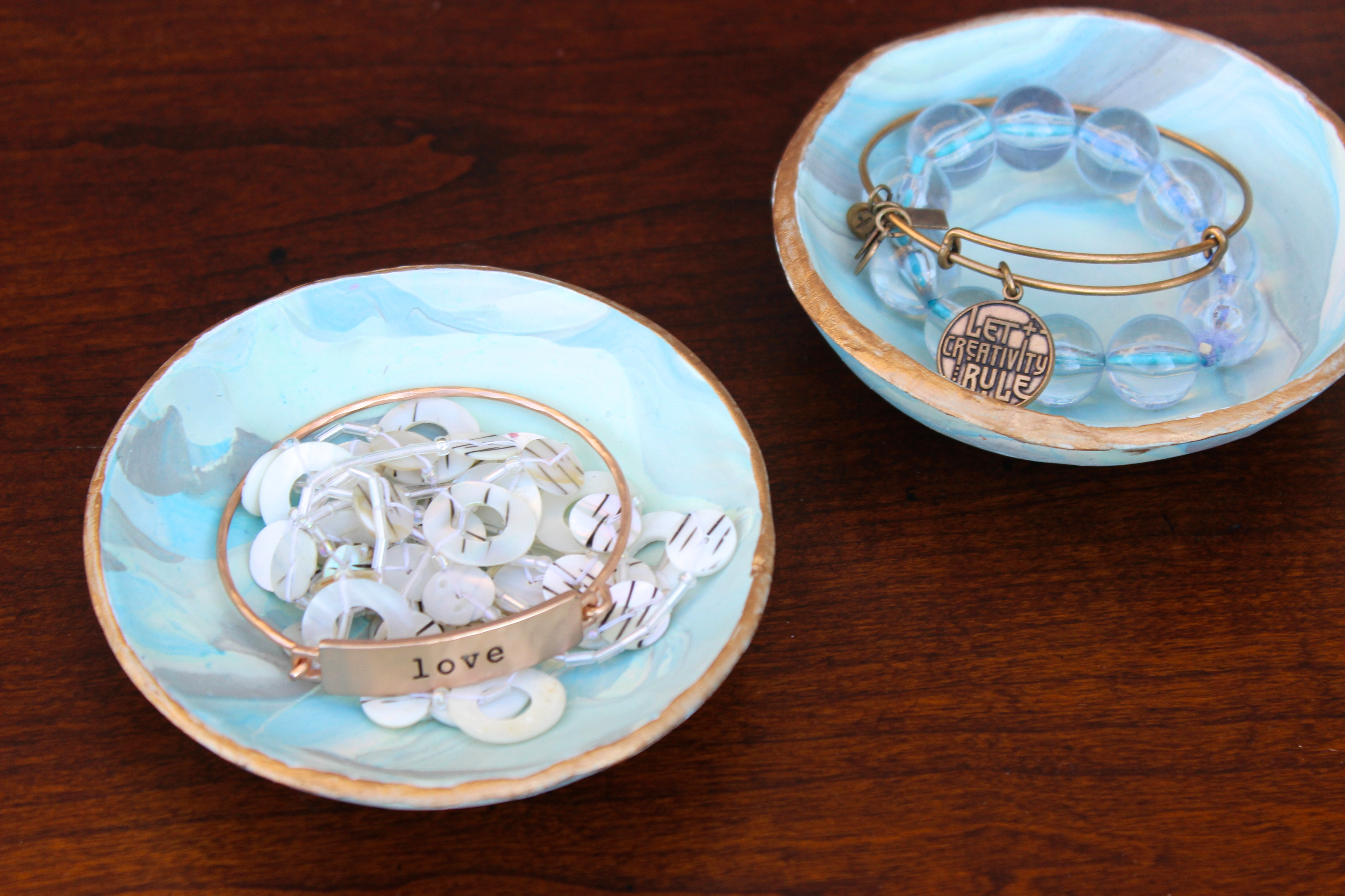 diy marble clay jewelry dishes a little craft in your day