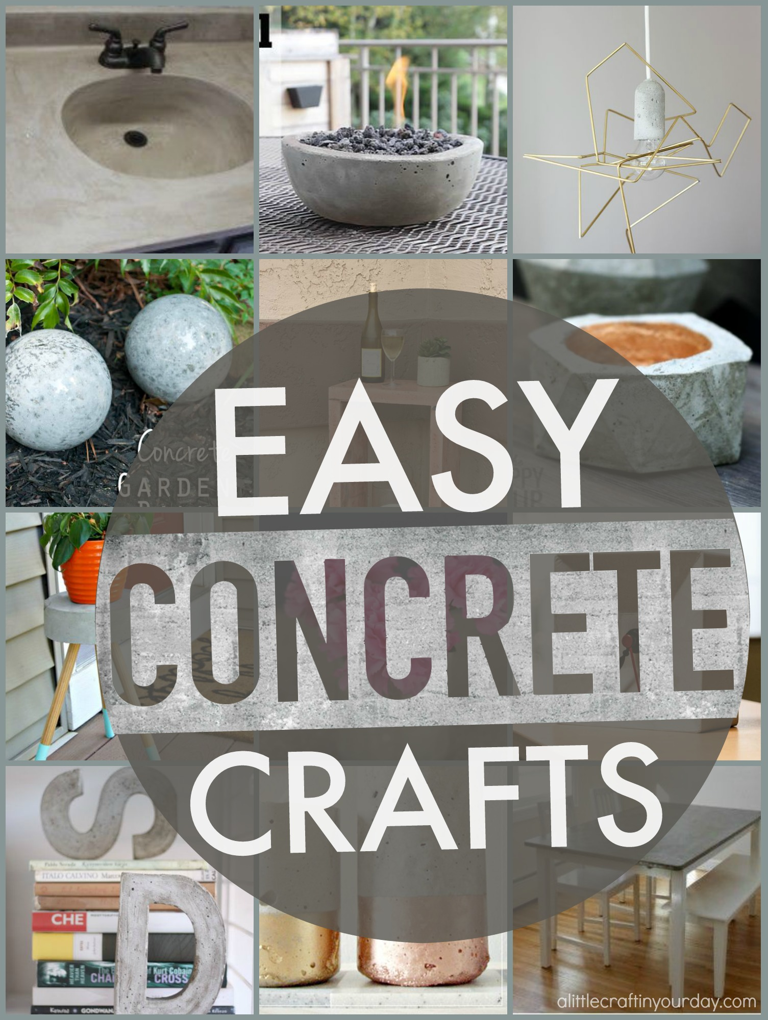 Easy concrete projects a little craft in your day for Small concrete projects