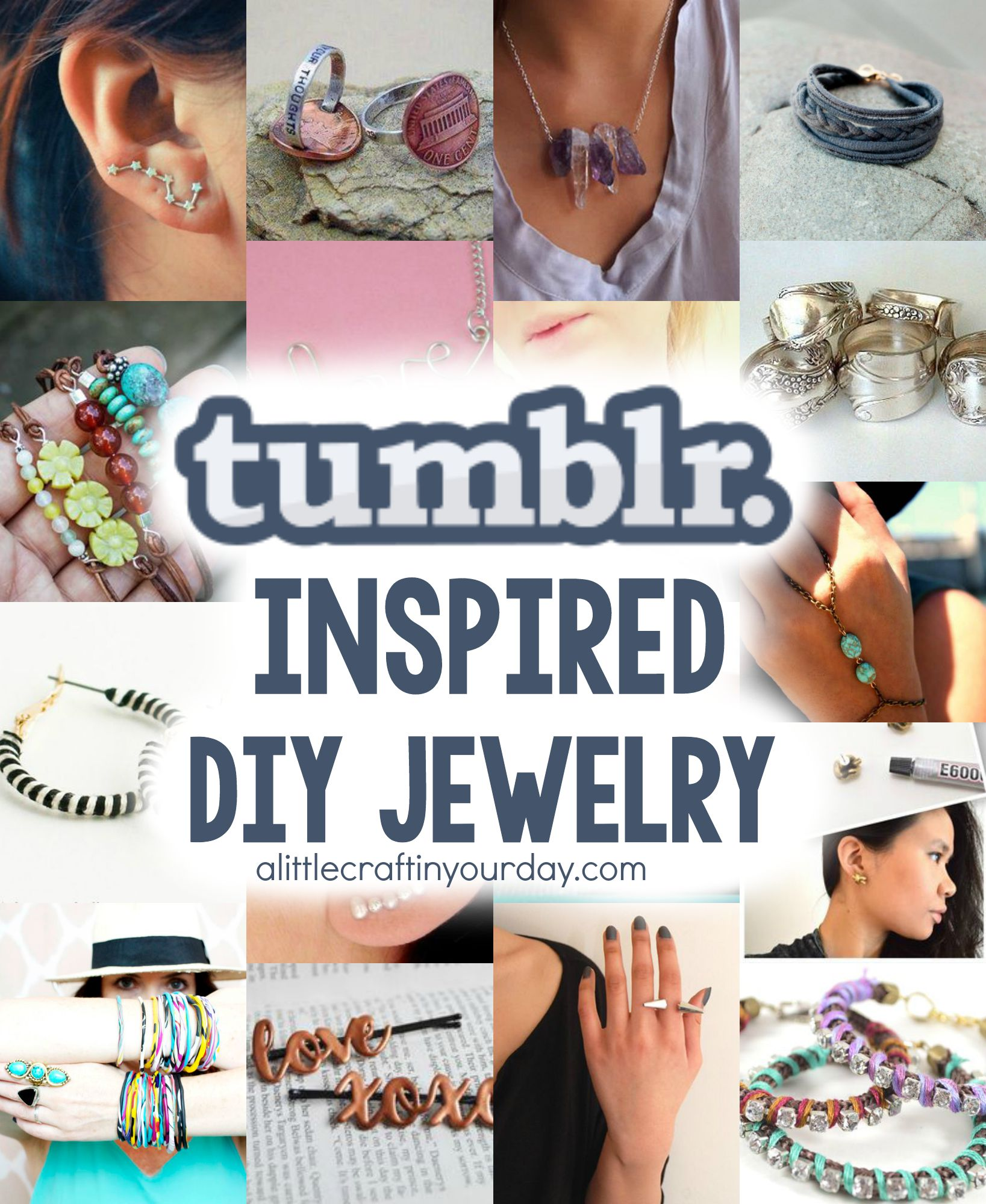 tumblr inspired diy jewelry a little craft in your day. Black Bedroom Furniture Sets. Home Design Ideas