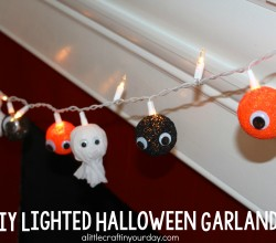 DIY Lighted Halloween Garland