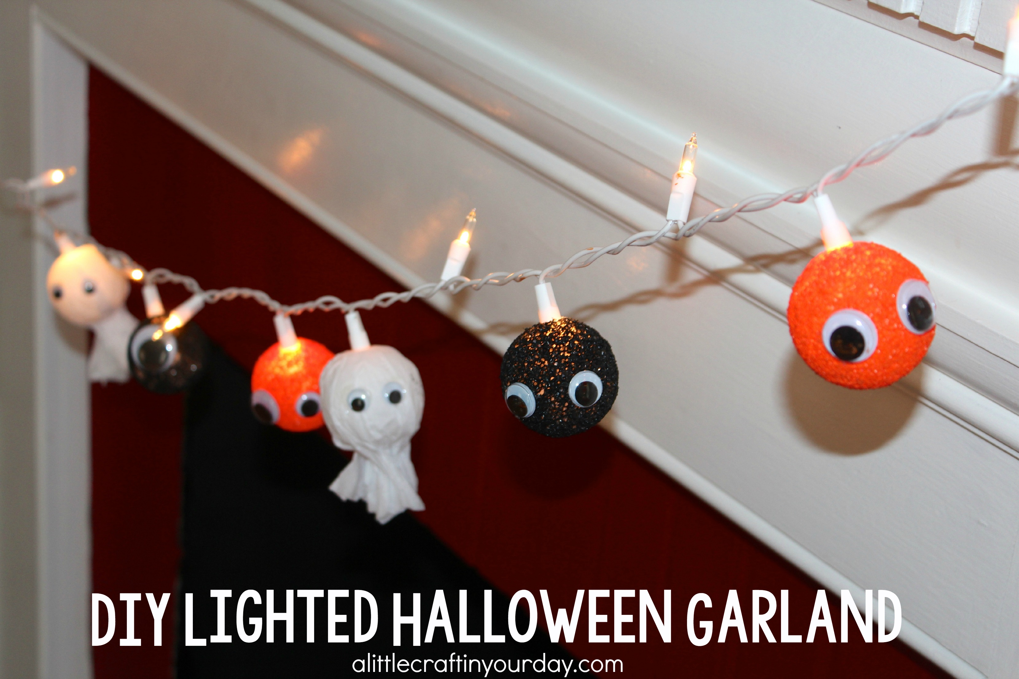 Diy lighted halloween garland a little craft in your day for Halloween girlande