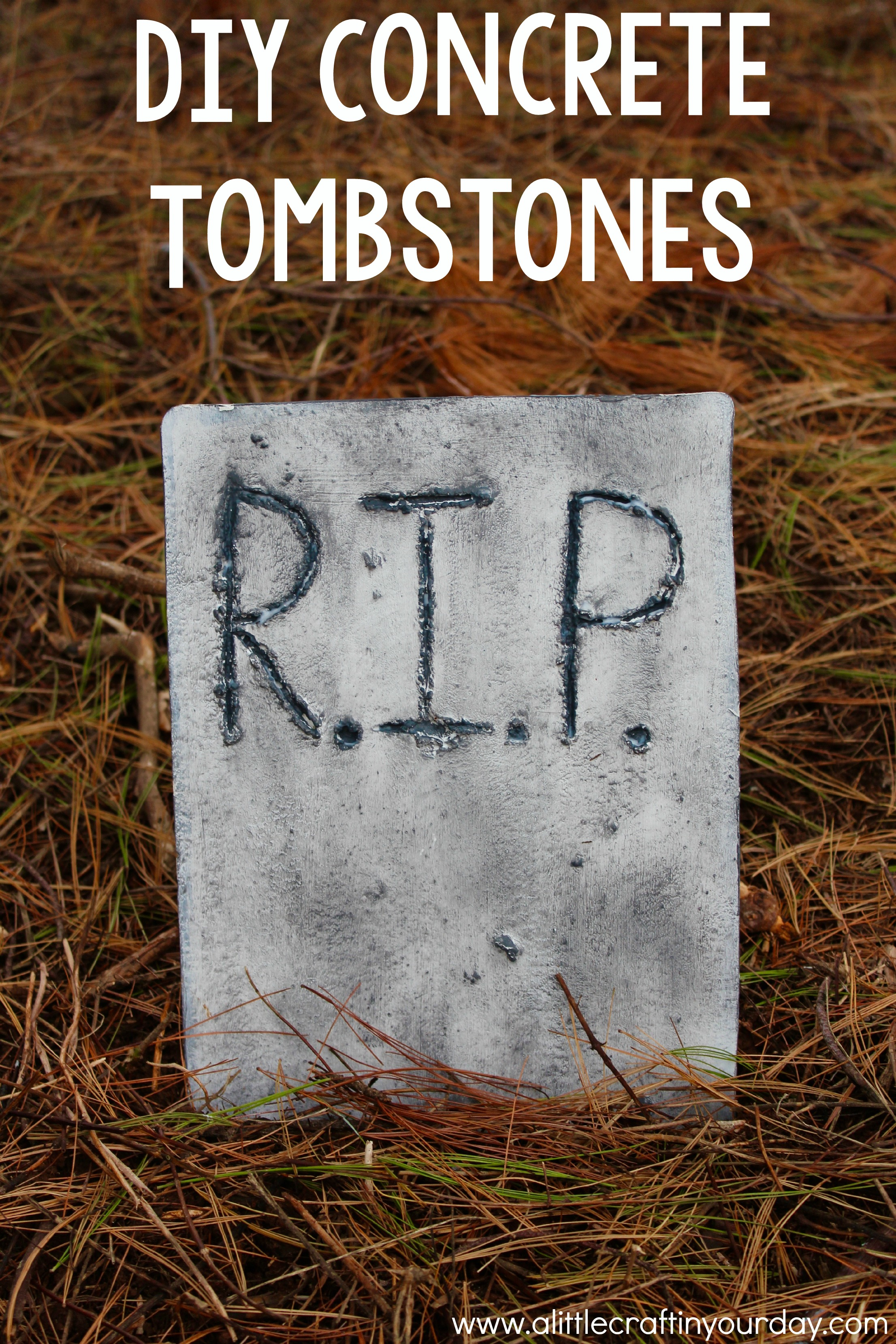diy concrete tombstones - a little craft in your day