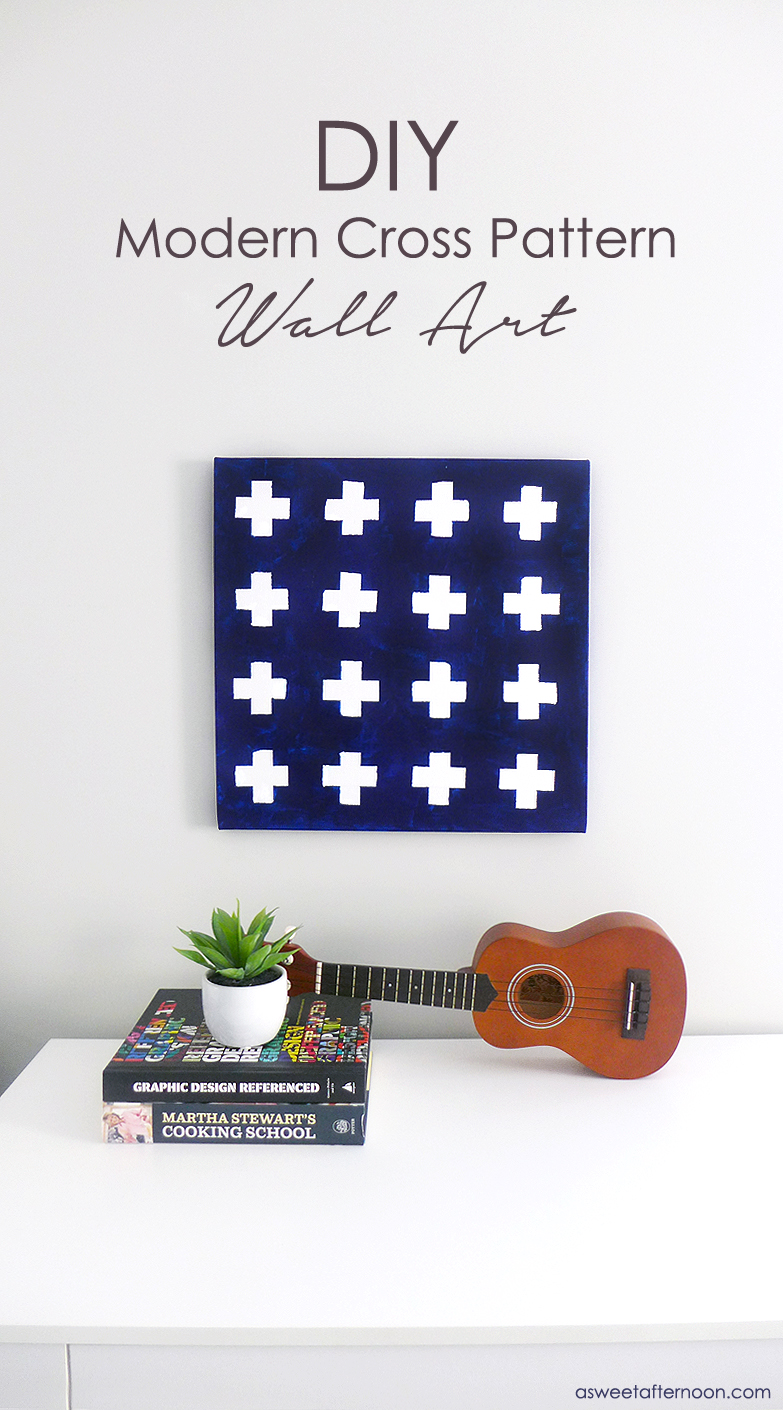 diy-modern-cross-pattern-wall-art