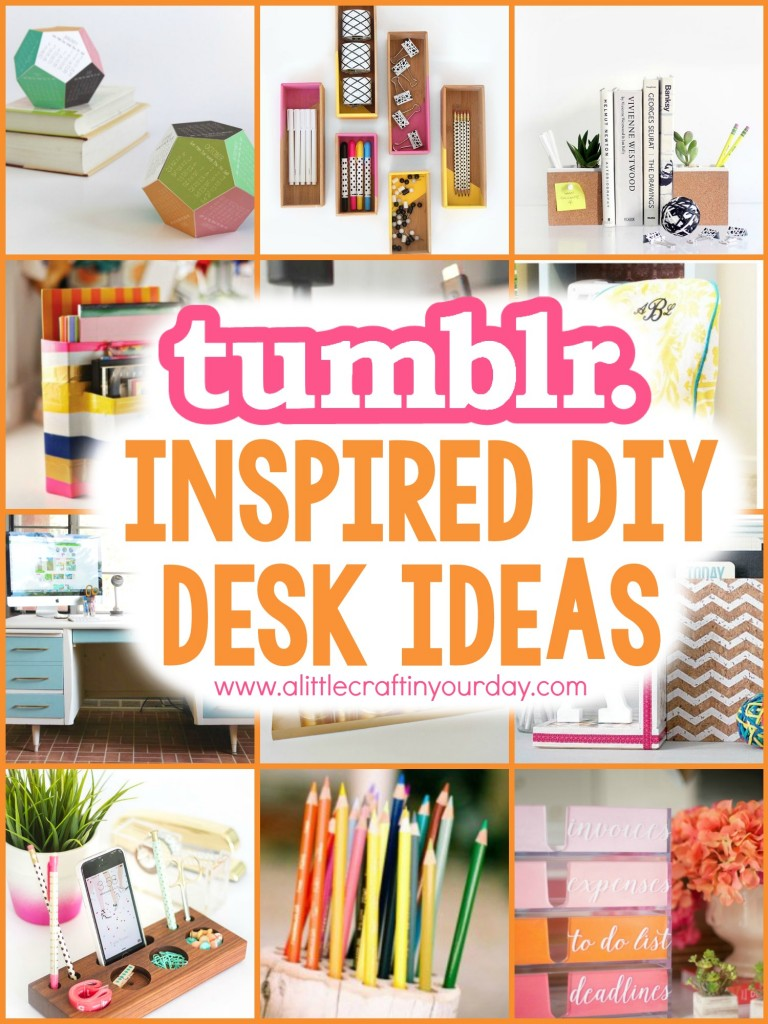 Tumblr inspired diy desk ideas a little craft in your day for Room decoration products